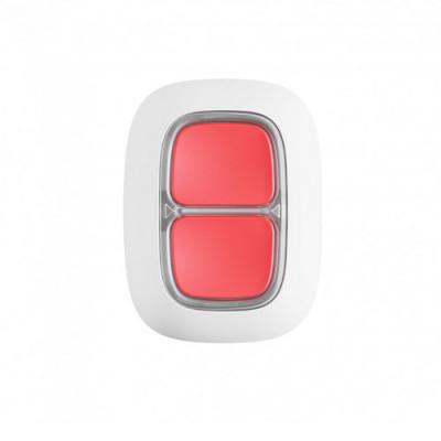 Ajax Double Button - Беспроводная тревожная кнопка для экстренных ситуаций - белая