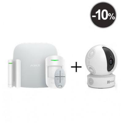 Ajax StarterKit – Комплект беспроводной GSM-сигнализации + IP-камера EZVIZ EZ360 1МП поворотная камера