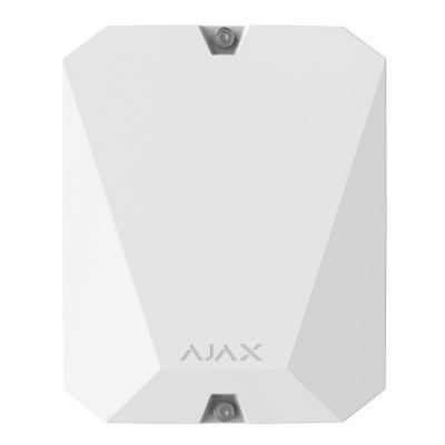 Ajax MultiTransmitter – Модуль интеграции сторонних проводных устройств - белый