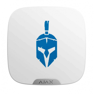 Ajax Brandplate - Лицевая панель для брендирования уличной сирены - белый