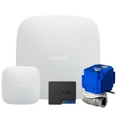 "Ajax Hub + LeaksProtect  + WallSwitch  + Кран шаровой с электроприводом HC 220В 1/2"""