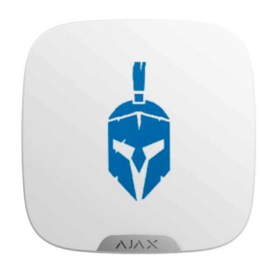 Ajax Brandplate - Лицьова панель для брендування вуличної сирени - білий