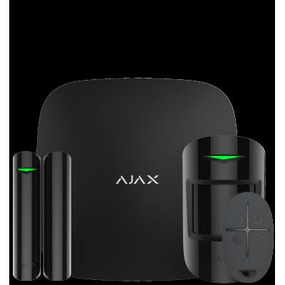 Ajax StarterKit Plus - Комплект бездротової сигналізації з централлю другого покоління - чорний