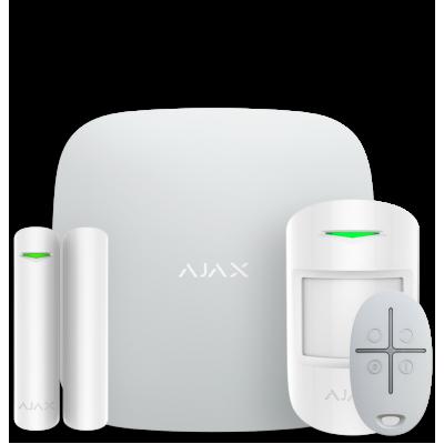 Ajax StarterKit Plus – Комплект беспроводной сигнализации с централью второго поколения – белый