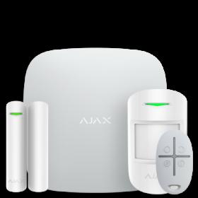 Ajax StarterKit – Комплект беспроводной GSM-сигнализации – белый