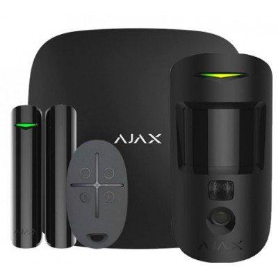 Ajax StarterKit Cam Plus – Комплект беспроводной GSM-сигнализации – черный