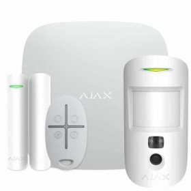 Ajax StarterKit Cam – Комплект беспроводной GSM-сигнализации – белый