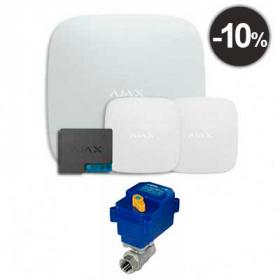 "Ajax Hub + LeaksProtect (2шт) + WallSwitch + кран с электроприводом neptun bugatti pro 220в 1/2"""
