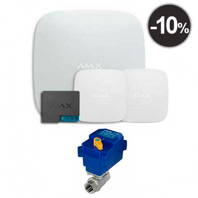 "Комплекты Ajax Starter Kit Ajax Hub + LeaksProtect (2шт) + WallSwitch +  кран с электроприводом neptun bugatti pro 220в 1/2"""