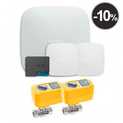 "Комплекты Ajax Starter Kit Ajax Hub + LeaksProtect (2шт) + WallSwitch + 2 кранa с электроприводом Neptun Profi 220в 1/2"""