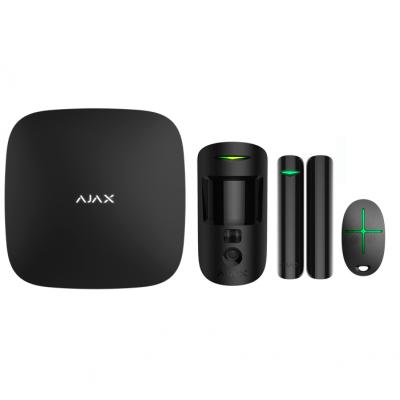 Ajax StarterKit Cam – Комплект беспроводной GSM-сигнализации – черный