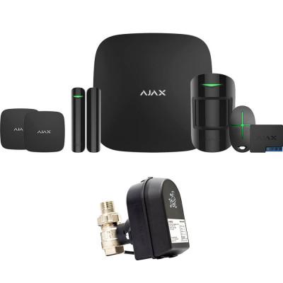 Ajax StarterKit + LeaksProtect (2шт) + WallSwitch + кран с электроприводом Honeywell 220 One