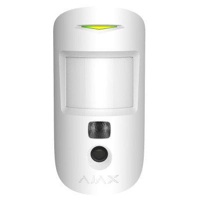 Датчик руху з фотопідтвердження тривог Ajax MotionCam - Білий