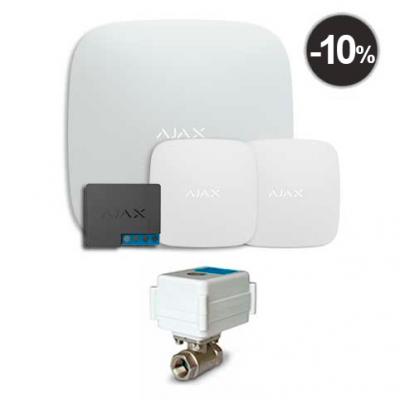 "Комплекты Ajax Starter Kit Ajax Hub + LeaksProtect (2шт) + WallSwitch + кран с электроприводом Neptun AquaControl 220В 1/2"""