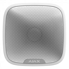 Ajax StreetSiren – Беспроводная уличная сирена – белая