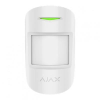 Ajax MotionProtect Plus – Беспроводной датчик движения с микроволновым сенсором – белый