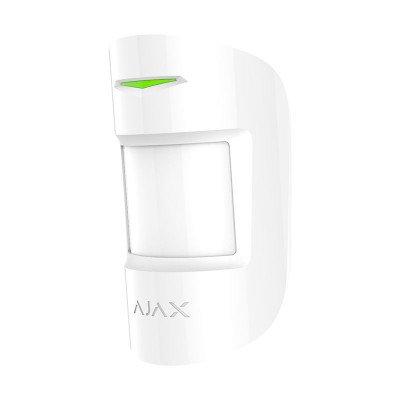 Ajax CombiProtect – Беспроводной датчик движения и разбития – белый