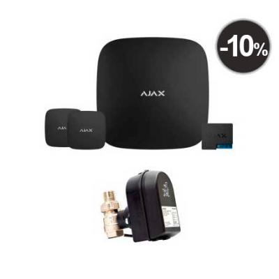 Ajax Hub + LeaksProtect (2шт) + WallSwitch + кран с электроприводом Honeywell 220 One