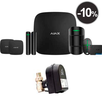 Ajax StarterKit + LeaksProtect (2шт) + WallSwitch + кран с электроприводом Honeywell 220 One