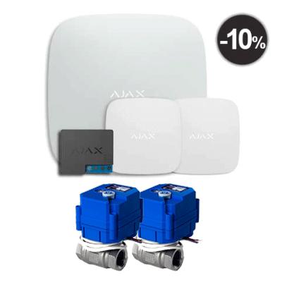 "Ajax Hub + LeaksProtect (2шт) + WallSwitch  + 2 Кран шаровый с электроприводом HC 220В 1/2"""
